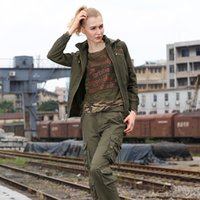 Wholesale Gs Jackets - FREE ARMY Winter Jacket Women Coat women bomber jacket England Style Regular Thickness Military style women jacket model GS-8237A