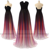 Wholesale Sweetheart Gradient Prom Dress - Vestidos Elie Saab Gradient Ombre Chiffon Evening Dresses IN STOCK Long Formal Prom Gowns 2015 Special Occasion Dress A-Line Sweetheart