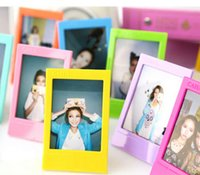 Wholesale photo frame styles - 10pcs lot rainbow colorful photo frames mini size picture frames 3inch fuji film instax wedding decoration fashion home decor