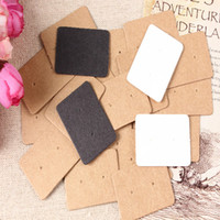"Wholesale Displaying Hook - 2.5*3.5cm (1.0*1.4"") Kraft Paper Stud Earrings Tag Jewelry Display Card Retail Earring Hang Tag Label Ear Stud Hooks Cardboard Price Tags"