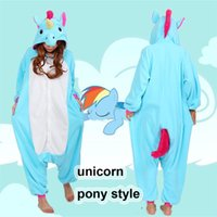 Halloween-Party-Kostüm Einhorn My Little Pony Baby Body Pyjamas Kostüm Unisex Adult One-piece Nachtwäsche Tops Partei Cosplay