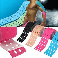 1 Rollo de 5M x 5 cm Músculos de perforación Sports Care Elastic Physio Therapeutic Tape Adhesive High Quality