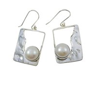 Wholesale Especially Women - 2015 mystic women earrings pure sterling silver and classy freshwater pearl for any occasion especially night party for E6966