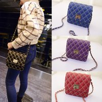 Shoulder Bags black quilted chain strap bag - 2015 New Fashion Women Cover Cross Body Bag Quilted Design Chain Shoulder Strap Magnetic Snap Messenger Bag Top Quality B0008
