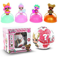 Wholesale Dolls Bottles - New LOL Surprise Glitter Doll Ball Toys 10cm Diameter 7 Layers Surprise L.O.L Anniversary Edition Kids Toy For Christmas Gifts