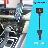 soporte para coche iphone usb al por mayor-Soporte magnético para coche Soporte de montaje con cargador USB dual Cradle (5V, 2.1A) para iPhone 5 6 7 8 X Samsung Xiaomi Sony Moto LG Todos los teléfonos inteligentes