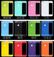 Wholesale Sparkling Screen Protector - For iphone 6 6s plus Candy Colors Glitter Full Body Stickers for iPhone 6 6s Sparkling Film Decal Screen Protector