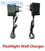 Wholesale battery powered plugs for sale - Group buy Flashlight Power Adapter Flashlight Wall Charger Battery Charger Flashlight mm Round Plug Charger EU US Plug