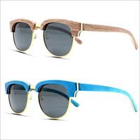 ingrosso occhiali da sole polarizzanti circolari-Occhiali da sole circolari in bambù da pesca all'ingrosso Occhiali da sole circolari in bambù con lenti polarizzate