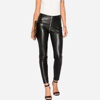 sexy leggings jeans damen großhandel-Damen Skinny Black Jeans Sexy Hohe Taille Reißverschluss Denim Jeans Leggings Slim Fit Bleistift Hose New Streetwear Clubwear BSF0317