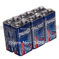 Wholesale 9v 6f22 Alkaline Battery - 10pcs PAKO 9V 6F22 One-time Carbon-Zinc Batteries carbon zinc battery zinc battery zinc battery