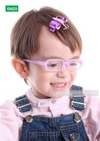 Wholesale Baby Girls Boys Glasses Size mm with Cord No Screw One piece Flexible Toddler Bendable Children Glasses Frame