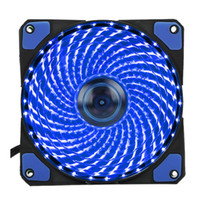 33 Light LED Ventiladores silenciosos Radiating Heatsink Cooler Ventilador para computador PC Dissipador de calor Ventilador de 120mm 12V Luminous 3Pin 4Pin Plug Free DHL
