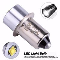 18v lumières led achat en gros de-Ampoule de mise à niveau LED 3W 18V P13.5S PR2 Base Ampoules de remplacement à LED pour lampe torche Lampe de travail Lampe C + D Cellules