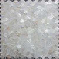 Wholesale Mosaic Mesh - Mother of pearl tile hexagon seamless on mesh 20MM;shell mosaic tile bathroom washroom wall tile; kitchen backsplash tile