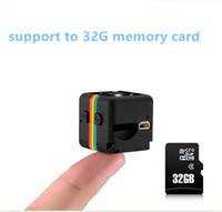 Wholesale Minidv Recorders - 1080P SQ11 Mini Camera HD Camcorder HD Night Vision Hidden Camera Aerial sports mini DV Voice Video Recorder Car DVR Home Security Recorder