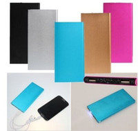 Wholesale New Portable Phone Chargers - Super Slim Power Bank 20000mah 2017 new Luxury Matte Polymer Portable Charger External Battery 20000 mah Mobile Phone Backup Powers