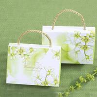 bolsos morados de boda al por mayor-100 psc estilo de bolso lindo caja de regalo de boda con asa encantadora y Pupular Wedding Party Bag para Candy Green color púrpura y rojo