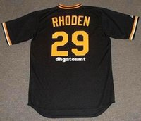 Cheap Custom RICK RHODEN Pittsburgh Pirates 1982 Majestic Cooperstown Baseball Jersey Retro Mens Jerseys