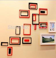 Wholesale 3d Framed Art - 2 Set lot High Quality 3D Photo Frame & 3D Oblong Wall Decor For Home Decorative
