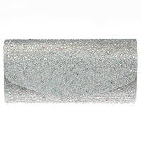 Wholesale Cross Fix - Wholesale-DC1989 Full Crystals Women Day Evening Party Clutches Cross Body Hot Fix Long Chain Red Blue Champagne Gold & Silver Colors