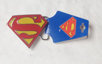 Wholesale black superman movie - Classic Superman with tag High Quanlity Super Hero Belt Buckle