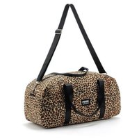 Wholesale-2015.Hot Vente Toile Leopard paquet Voyage Bag.Gym main Sport Duffel Bags.Fitness Sacs à bandoulière Messenger Bag.Women