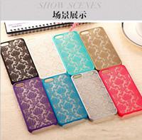 Wholesale translucent plastic iphone case - 2016 Vintage Damask Mandala Datura Henna Flower Case Hollow Matte Hard PC Translucent Cases Cover For iPhone 5S SE 6 6S plus S6 S7 edge