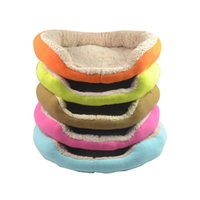 Wholesale Cat Beds Free Shipping - 2015 new Cashmere-like soft warm Pet Cat Bed Pet Nest luxury Dog nest Luxury warm round+free shipping