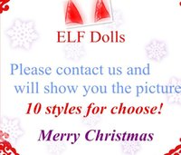 Wholesale Kids Comic Book - DHL 11style Plush ELF Dolls Red Girl & Boy Figure Christmas elves Soft Book of Christmas Novelty Toys Xmas Gift For Kids Holiday
