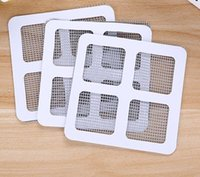 Wholesale grommet kitchen curtains - New Sheer Curtains Summer Window Mosquito Netting Patch Repairing Broken Holes on Screen Window Door Anti-mosquito Mesh Sticky Wires Patches