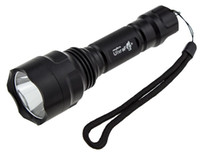 Wholesale Ultrafire Flashlights C8 - UltraFire C8 Cree XM-L T6 LED 1300LM 5-Mode Flashlight Torch light + 3000mah 18650 Rechargeable battery+Charger Free Shipping