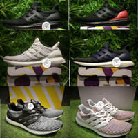 Wholesale Height Increasing Shoes China - (With Two Box)UB 4.0 Ultra Boost Real Boost Soles! Made in China Running Shoes Ultraboost Sneakers Mens Shoes Men Sports Boots
