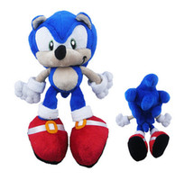 Wholesale Sonic Figure Dolls - 23cm new Sonic Plush Toys Red Sonic The Hedgehog Plush Doll Soft Stuffed Figure Doll Key Chain Kids Gift SEGA