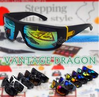 Wholesale Mixed Plastic Charms - New Charm Sport Rock Colors Outdoor Travel Reflective Dragon Sunglasses Goggles Windproof Glasses Unisex Man Woman 2038 VANTAGE