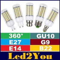 Wholesale G9 E14 E27 - Super Bright 7W 12W 15W 18W SMD5730 Led Corn Lights 360 Angle E27 E14 B22 GU10 G9 Led Bulbs 24LEDs 36LEDs 48LEDs 56LEDs AC 110-240V + CE UL