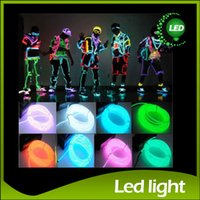Wholesale Restaurant Wholesalers - Flexible Neon Light 8 Colors 3M EL Wire Rope Tube with Controller 3M Flexible Neon Light Halloween Decoration Christmas Decoraion EL Light