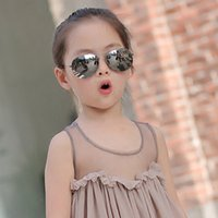 Wholesale Plastic Aviator Glasses - Kids Sunglasses for Children Fashion Boys Girls Baby Child Aviator Sun Glasses Infant UV400 lunette de soleil enfant
