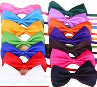 Wholesale Pet Hair Tie - New Pet Ties Bow Ties Bowbands Cats Dogs Bows 50 Colors Ties