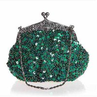 Boa qualidade Bead Sequin Embroidered Evening Bags Handmake Mulheres requintado Shiny Handbags Bride Bags Moda Chinês Style Handbags