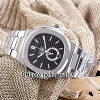 Wholesale Perpetual Moon - 2018 Cheap New Brand Nautilus 5726 1A-001 Black Textured Dial Calendar Moon Phase Automatic Mens Watch Stainless Steel Band Gents Watches