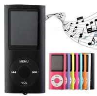 "Wholesale Mp4 Music Player 16gb - Slim 4TH 1.8"" LCD MP4 Player Earphone MP4 Music Player Support 2GB 4GB 8GB 16GB TF Card Slot"