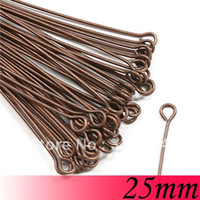 Wholesale Eyes 25mm - 25mm 2000piece Vintage antique copper Jewelry Bead Making Findings - eye Head Pin