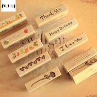kid stamps NZ - JWHCJ vintage strip wooden rubber stamp Kids DIY Handmade Scrapbook Photo Album, students Stamp Arts, Crafts gifts Free shipping q171129