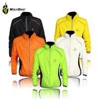 Wholesale Mens Cycling Jacket Xl - 2016 Hot WOLFBIKE Tour de France Cycling Coat Mens Windproof Road Bike Long Sleeve Jersey Wind Rain Waterproof Jacket