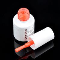 Wholesale Wholesale Toxic Glue - Wholesale-High Quality 5ML non-toxic environmental protection Nail Art Glue Tips Glitter UV Acrylic Rhinestones Decoration With Brush Nail