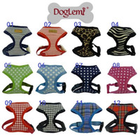 Wholesale Leather Dog Harness Vest - 100pcs 12 kinds of styles pet traction harness belt, black leather soles marked with breathable dog harness, multicolor can choose