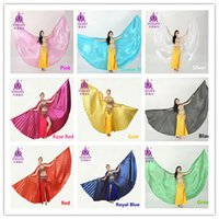 Wholesale Sticks Costume - Best Price 11 colors Angle Wings Egyptian Bellydance Belly Dance Wings Costume Isis Wings (no stick)