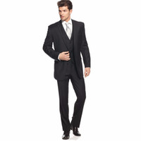 Top Hochzeitsanzüge Bilder Kaufen -Wholesale-Top Selling Black Men Tuxedo Some Bräutigam Smoking Coat Pants Bilder Männer Hochzeitsanzüge Noivo Smoking (Jacket + Pants + Vest + Bindung)