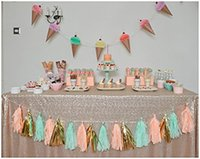 Wholesale tablecloth sparkly sequin resale online - Sparkly Sequin Tableclot of colours sizes available x156 Champagne Gold Rectangle Tablecloth Large Sequin Table Cloth For Dec